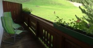 Die Aussicht vom Balkon ...